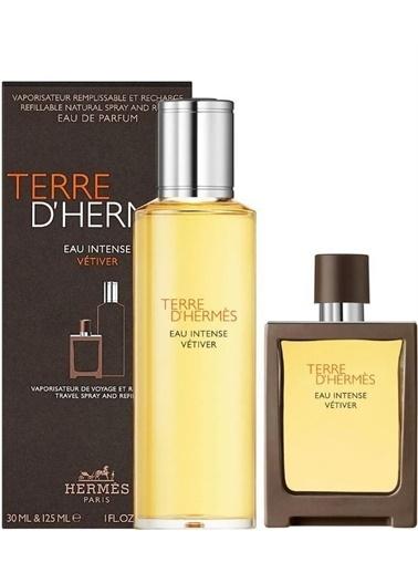Hermes Hermes Terre D'Hermes Eau Intense Vetiver Edp Erkek Parfüm Seti 30 Ml + 125 Ml Renksiz